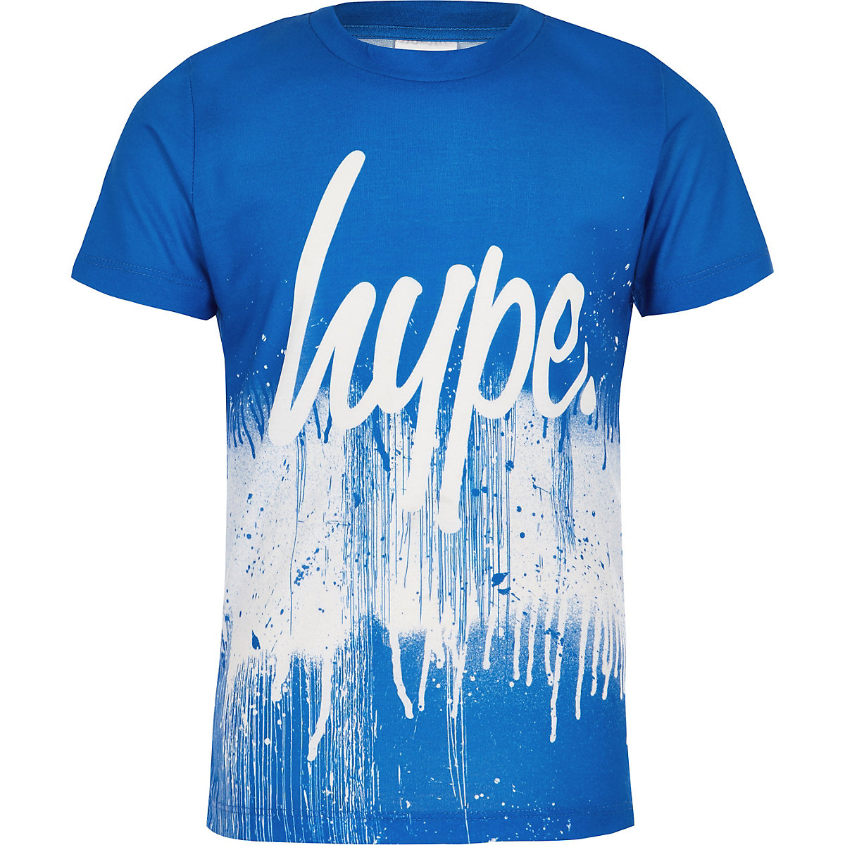 Boys Hype blue paint splat T-shirt