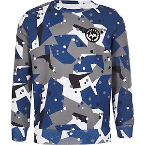 Hype – Graues Sweatshirt mit Camouflage-Muster