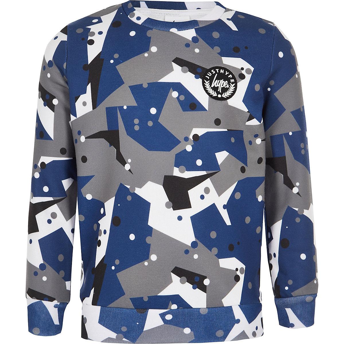 Boys Hype grey camo sweatshirt