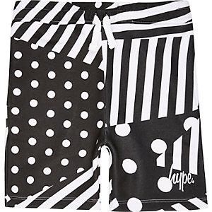 Hype - Zwarte monochrome jersey short voor jongens