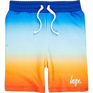 Hype - Blauwe jersey short met kleurverloop voor jongens