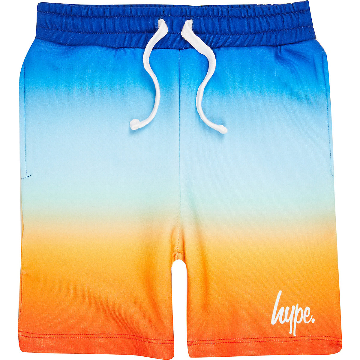 Boys blue Hype fade jersey shorts