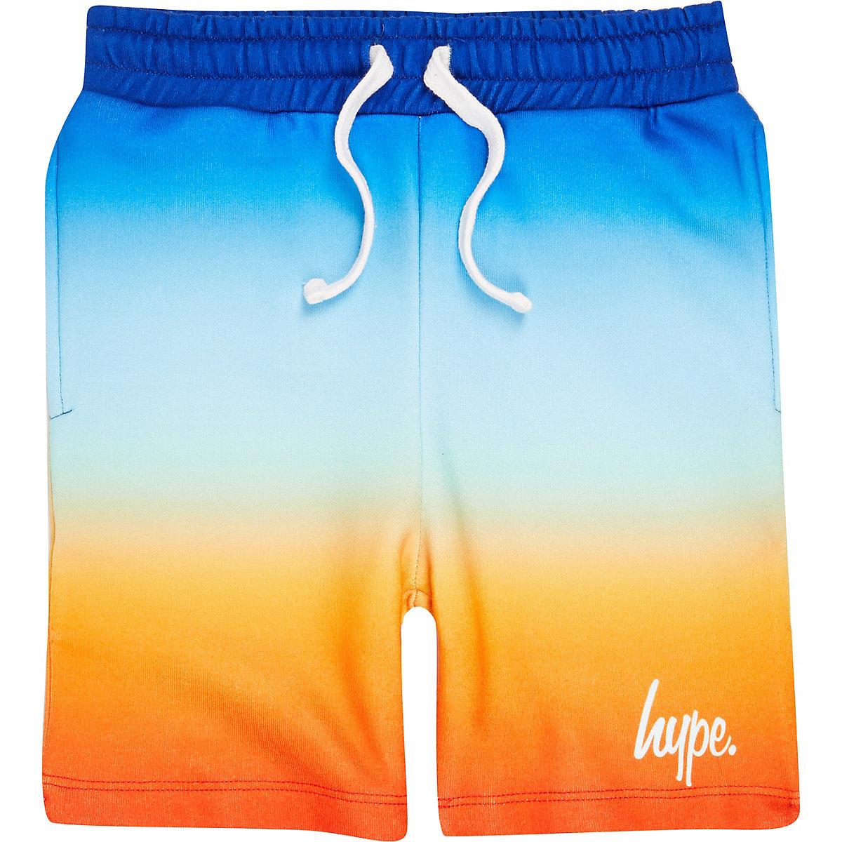 Boys blue Hype fade jersey shorts