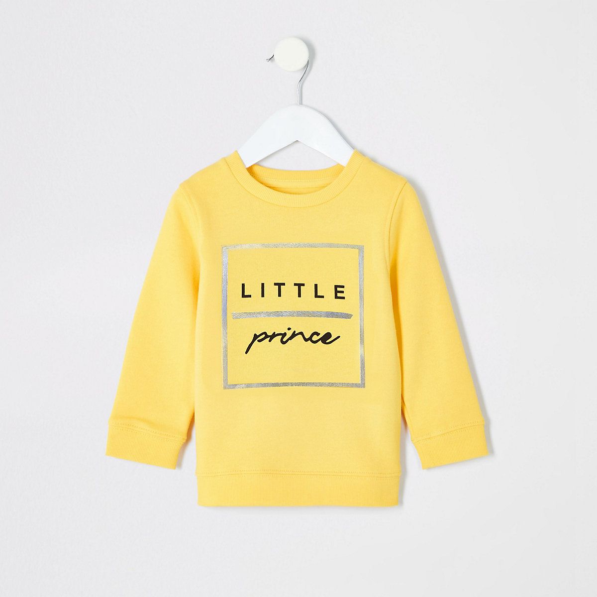 Mini boys yellow 'Little prince' sweatshirt