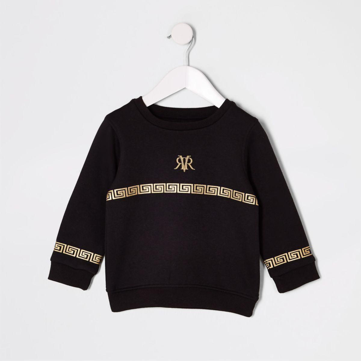 Mini boys RI foil print sweatshirt