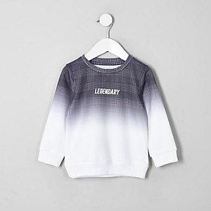 Sweat à carreaux gris effet dégradé pour mini garçon