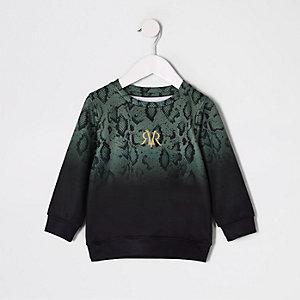 Mini boys khaki leopard fade sweatshirt
