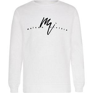 Wit sweatshirt met 'Maison Riviera'-print voor jongens