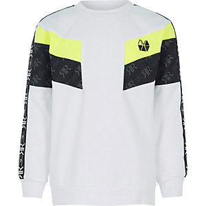 Boys RI Active white block sweatshirt