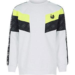 RI Active - Wit sweatshirt met blokprint voor jongens