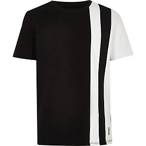 T-shirt colour block noir pour garçon