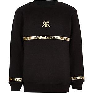 Zwart sweatshirt met RI-folieprint voor jongens