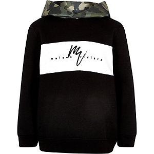Boys black camo hoodie