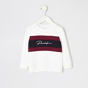Mini boys white prolific block sweatshirt
