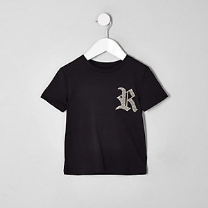 Mini boys black family twinning RI T-shirt