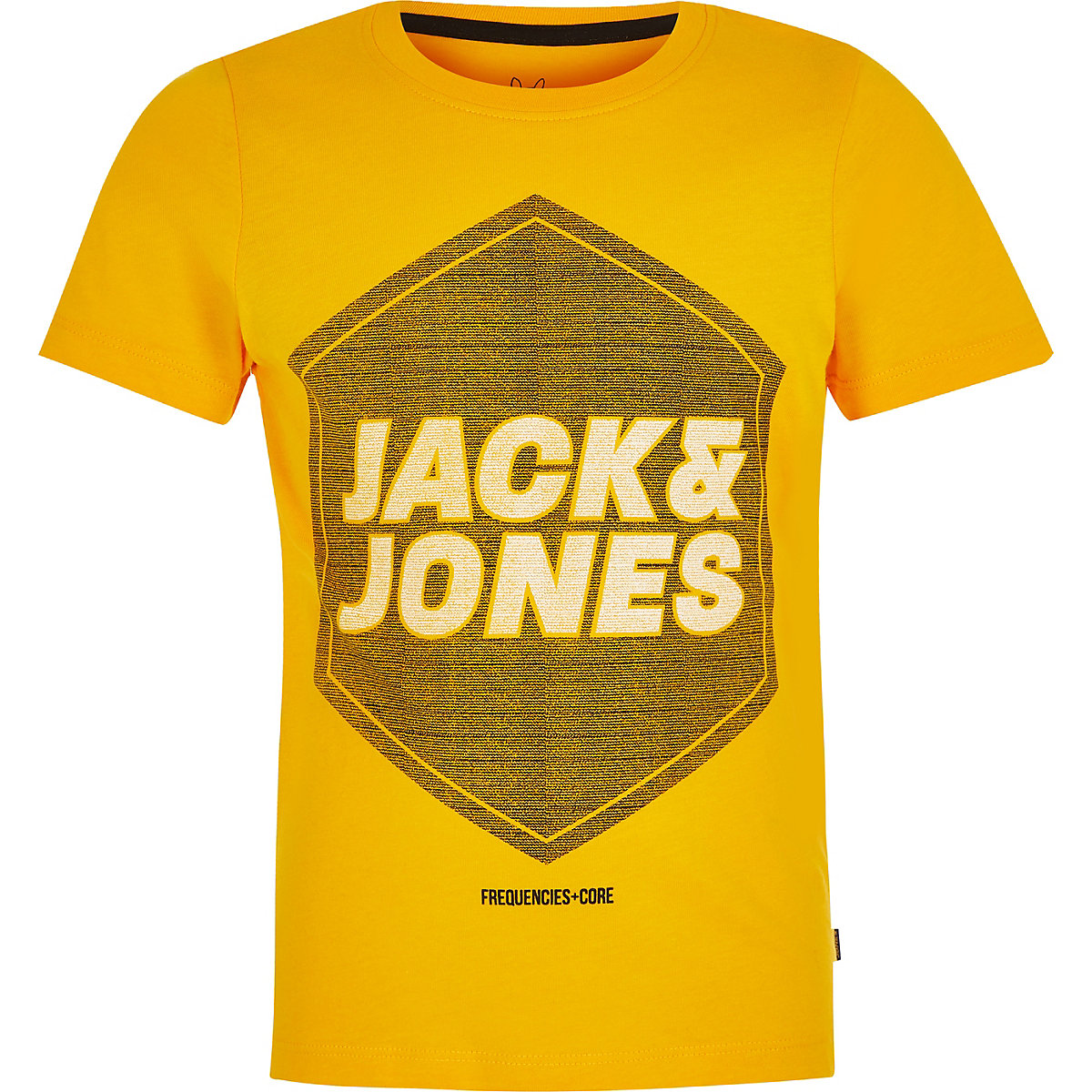 f887304ea9c Boys Jack and Jones yellow logo T-shirt