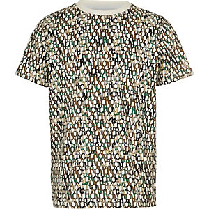 Boys white RI monogram T-shirt