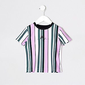 Gestreiftes T-Shirt in Lila
