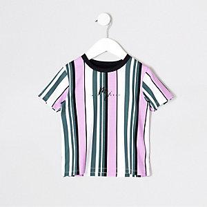 Mini - Paars gestreept T-shirt voor jongens