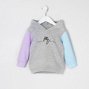 Mini girls grey 'Maison Riviera' hoodie