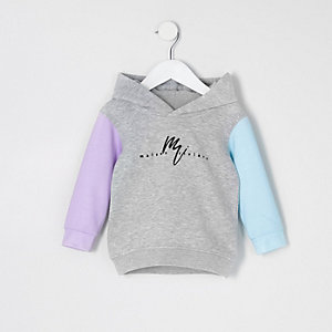 Mini - Grijze hoodie met 'Maison Riviera'-print voor jongens