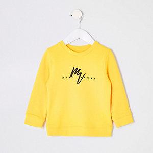 Sweat imprimé jaune pour mini garçon
