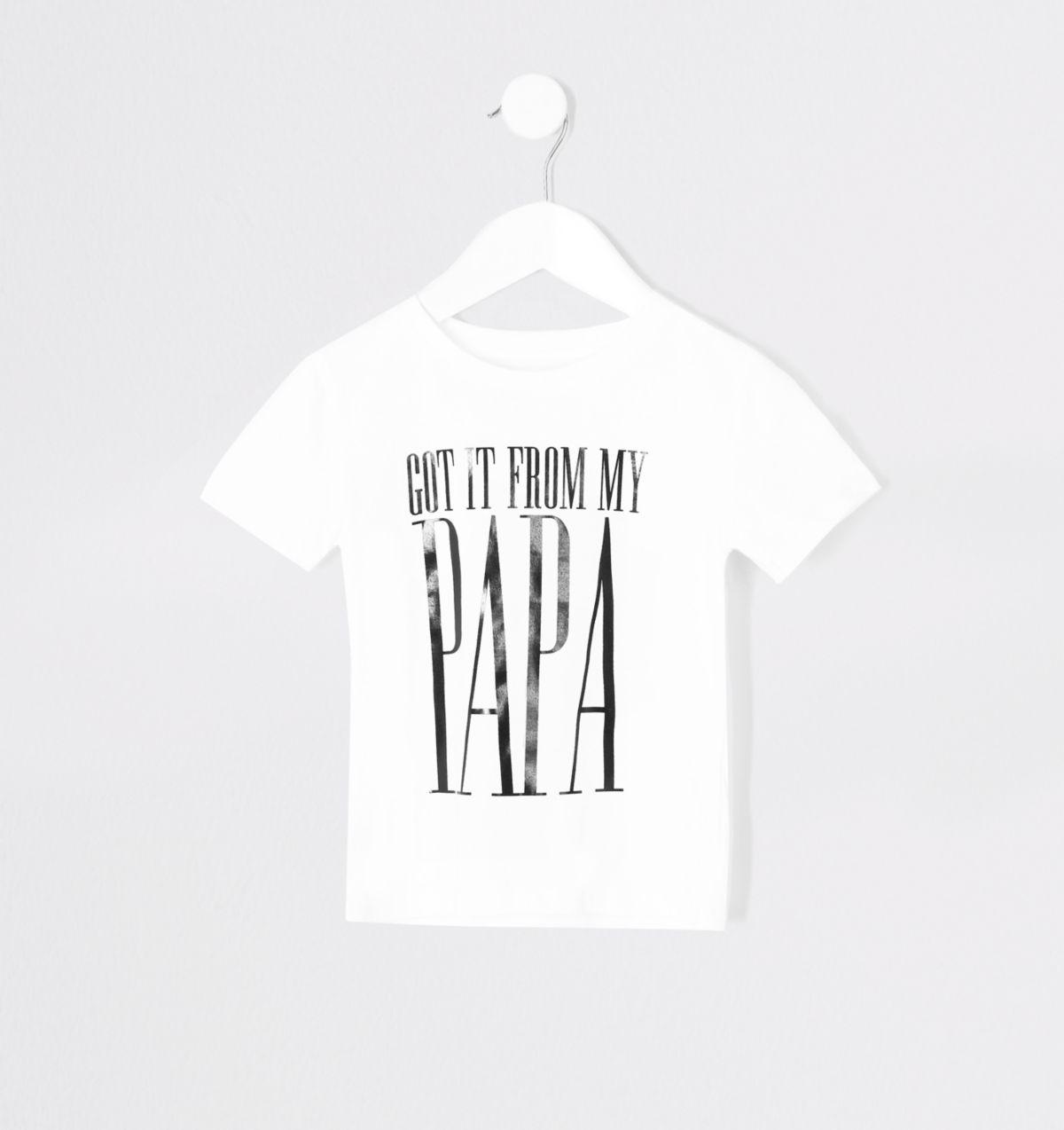 Mini boys 'From my papa' twinning T-shirt