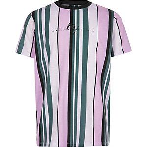 Boys lilac stripe 'Masion Riviera' T-shirt