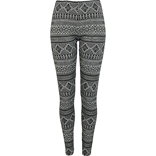 Black aztec print leggings