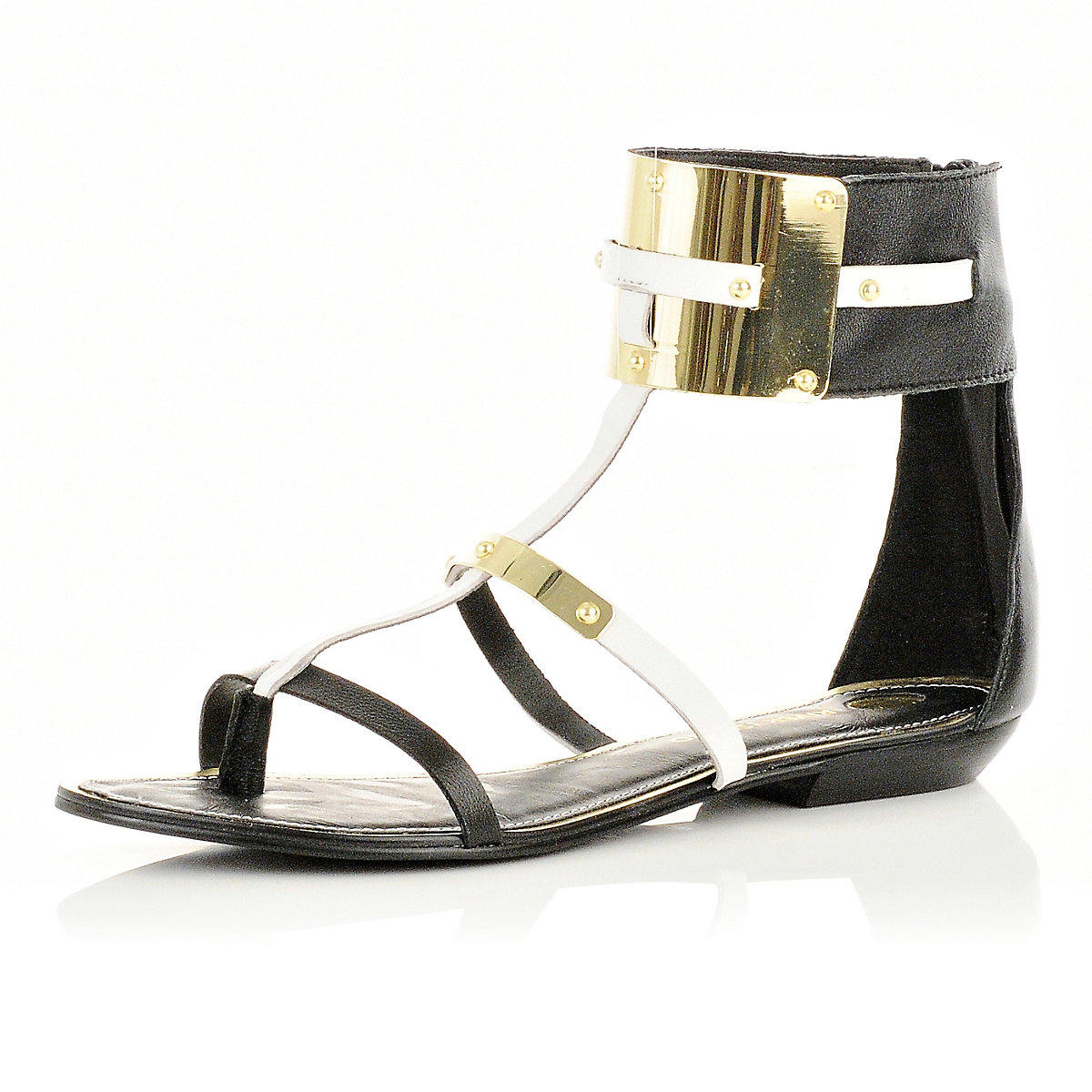 Black ankle cuff sandals