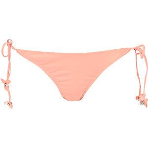 Light orange 3d flower bikini bottoms