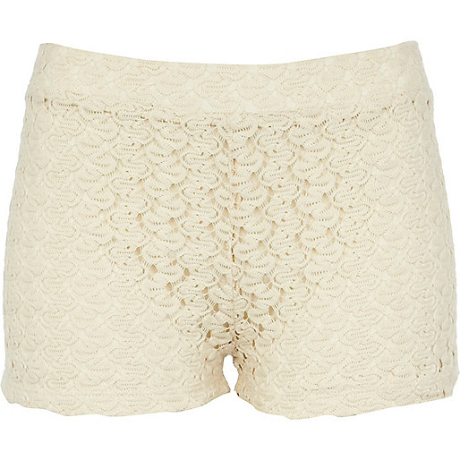 Cream lace hotpants