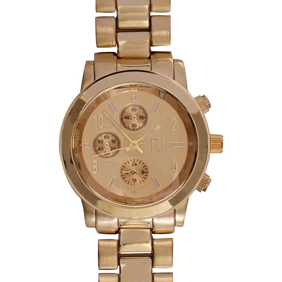 Gold Tone Bracelet Watch River Island