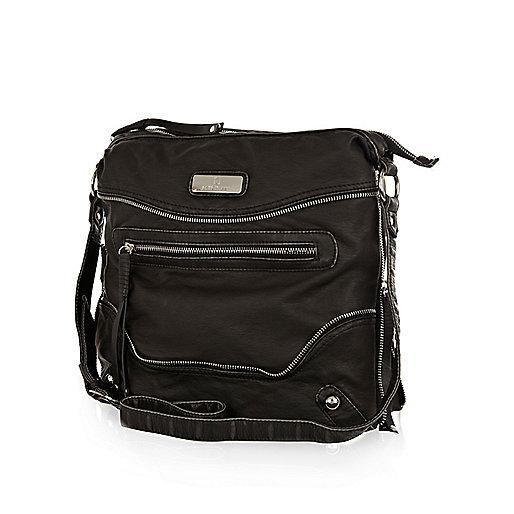 Black cross body messenger bag