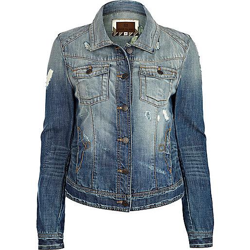 Mid wash denim jacket - coats / jackets - sale - women