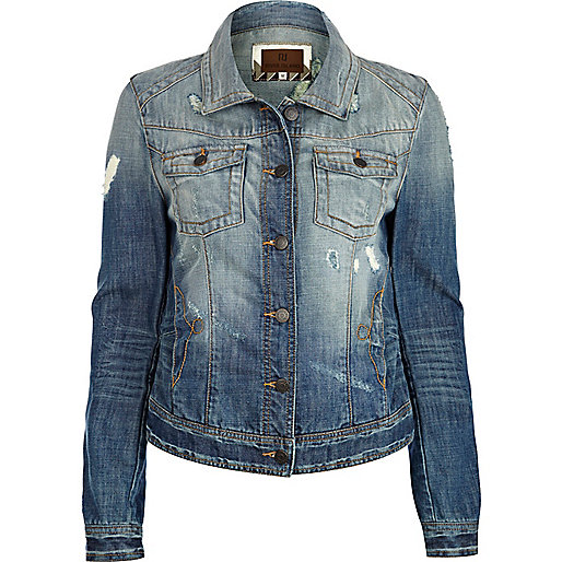 Mid wash denim jacket