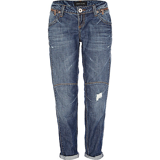 Mid wash denim Smith tapered jeans