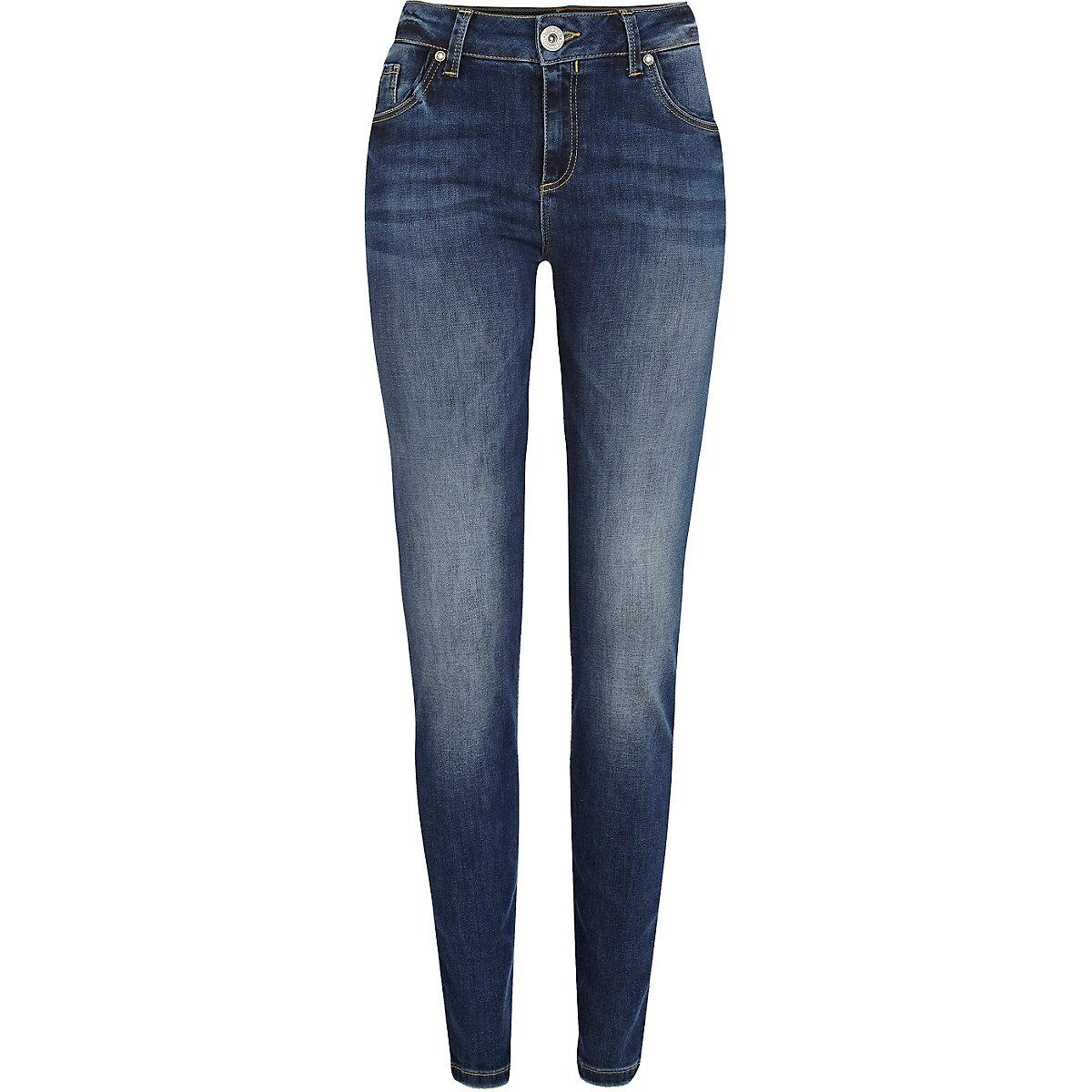 Mid wash Amelie superskinny jeans
