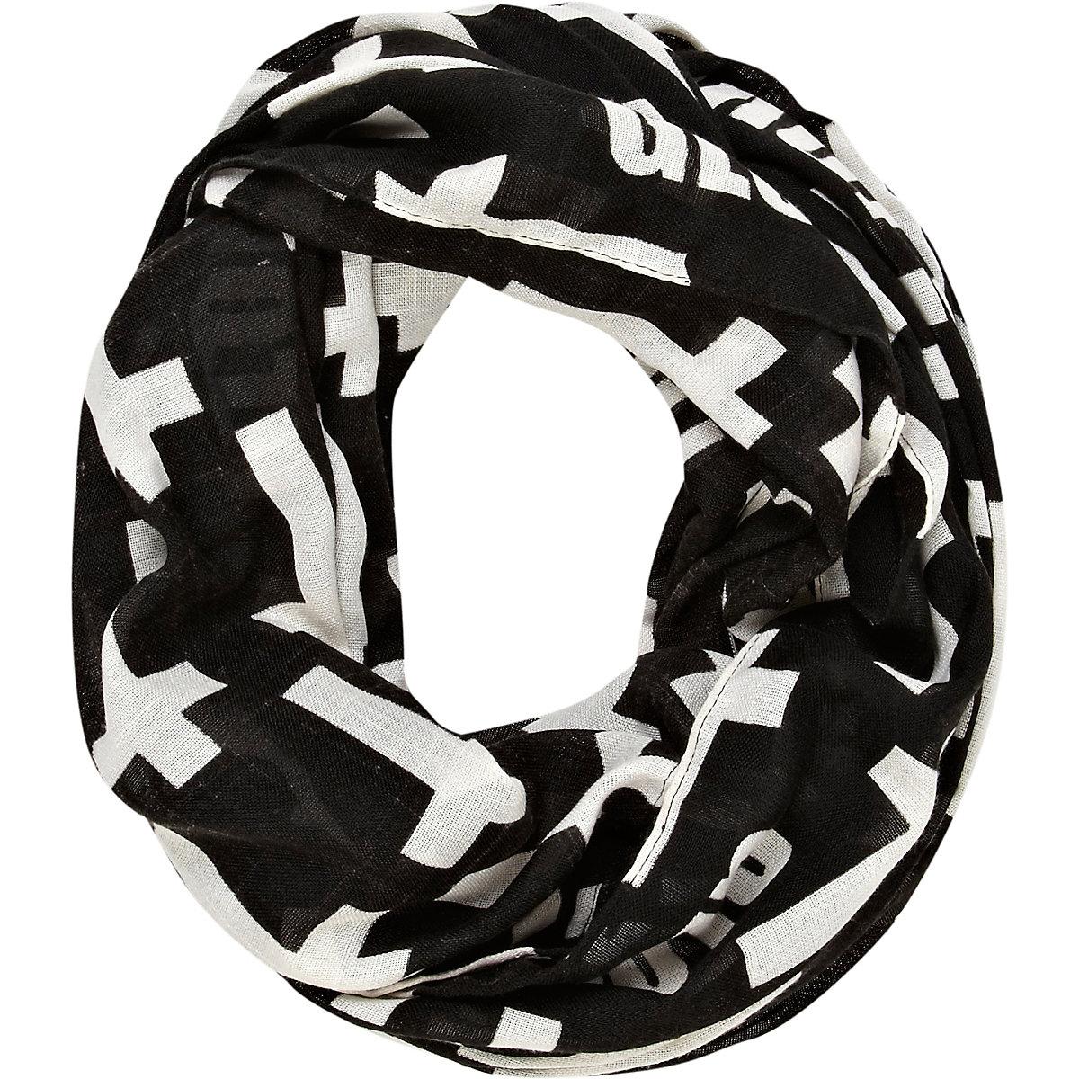 Black cross print snood