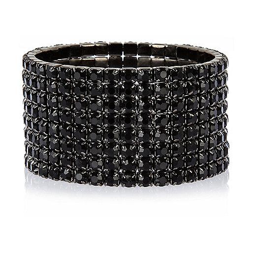 Black rhinestone cuff