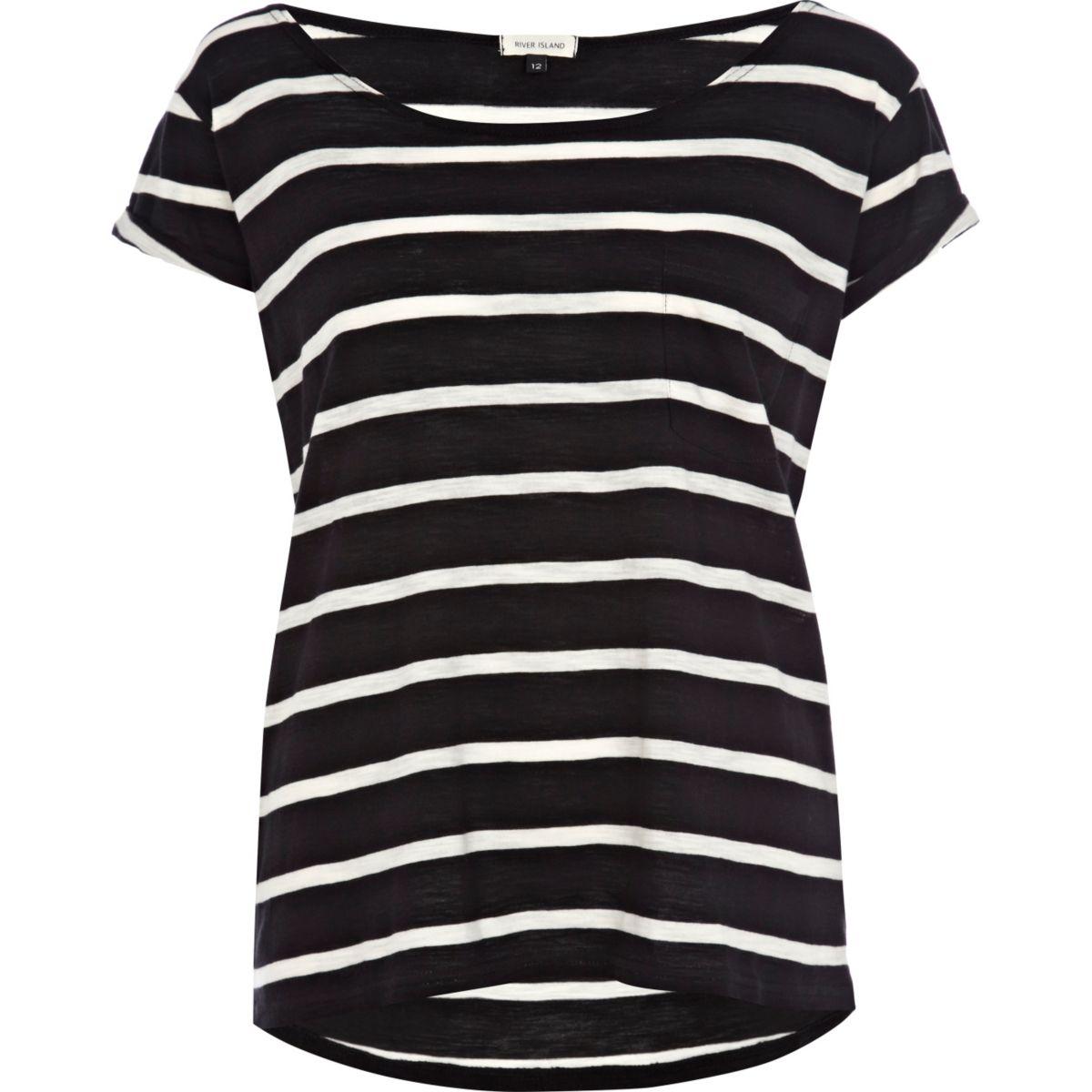 Black stripe boxy t-shirt