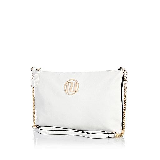 White cross body mini bag