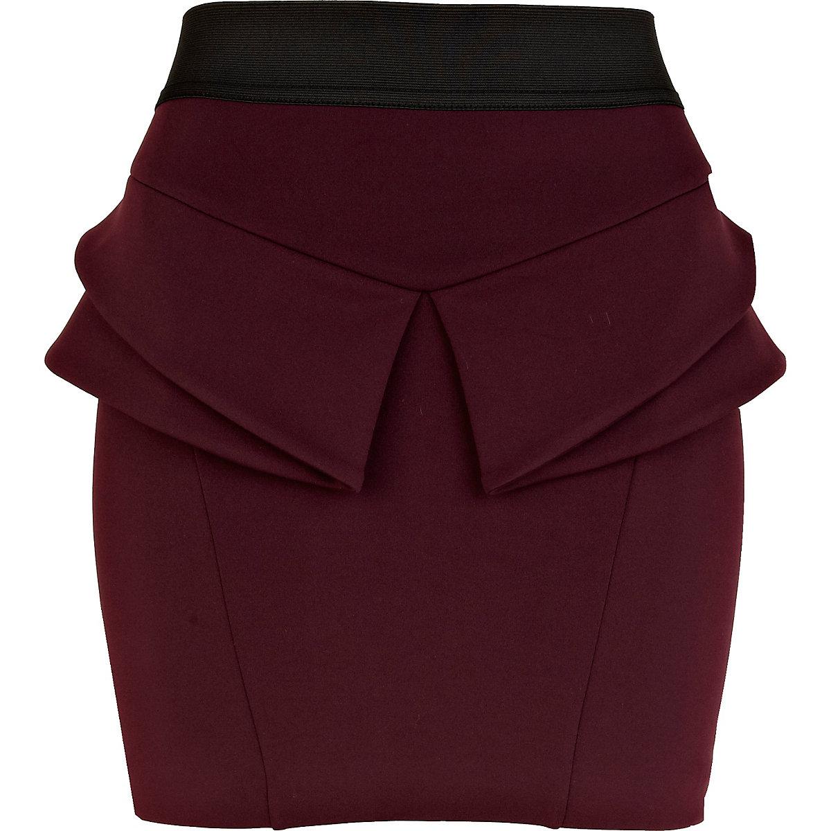 Dark purple peplum skirt