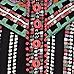 Black tribal print strappy romper