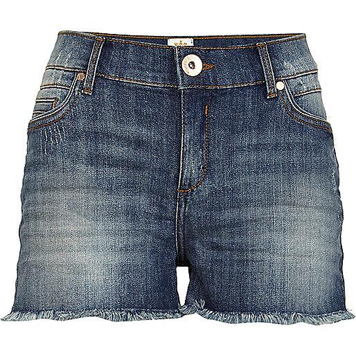 Mid wash cut off denim shorts - Shorts - Sale - women