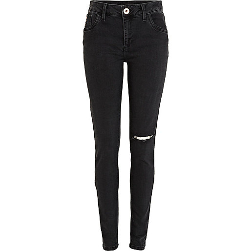 Black ripped Amelie superskinny jeans