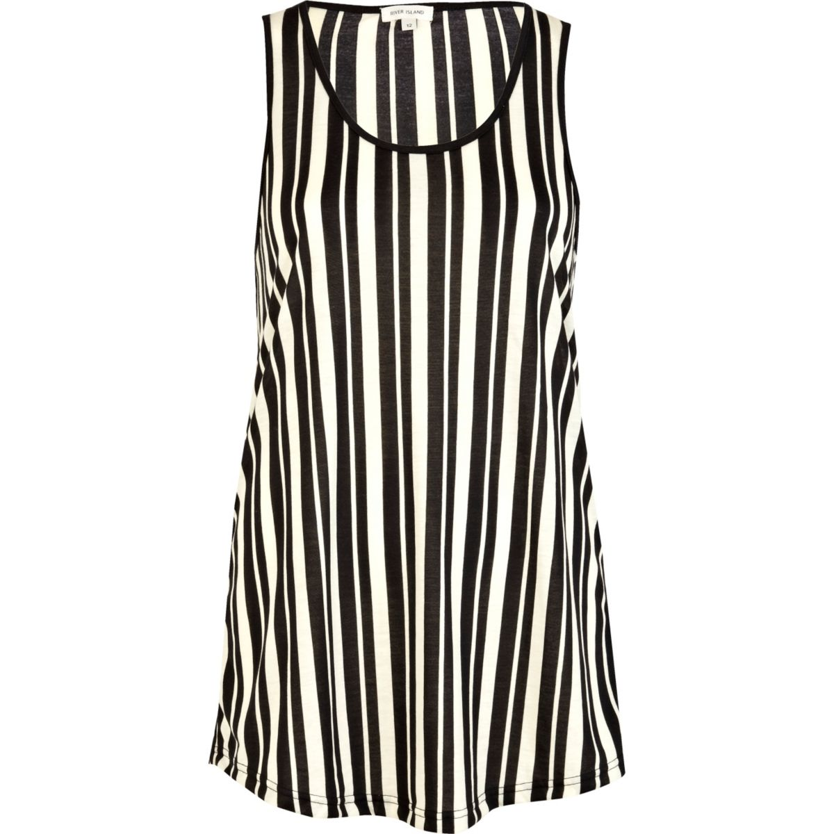 Black vertical stripe longline tank