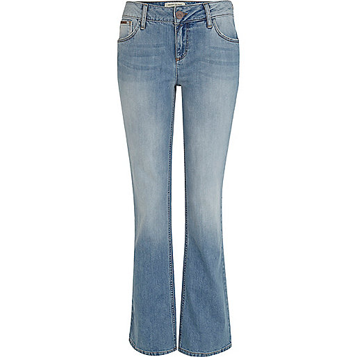 light blue bootcut jeans - Jean Yu Beauty