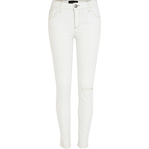 White ripped Amelie superskinny jeans
