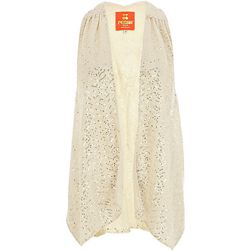 Cream Pacha embellished vest